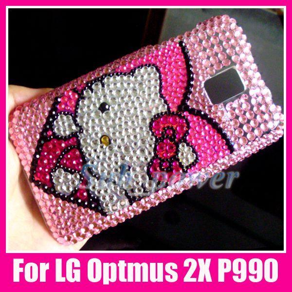 Hello Kitty Bling Back Case Cover LG Optimus 2X P990 @1