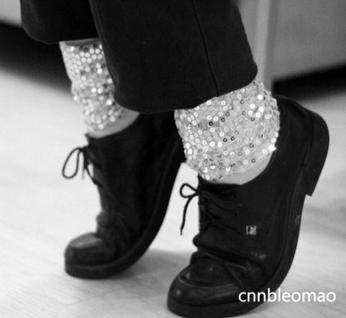 MICHAEL JACKSON MJ Billie Jean Costume Socks
