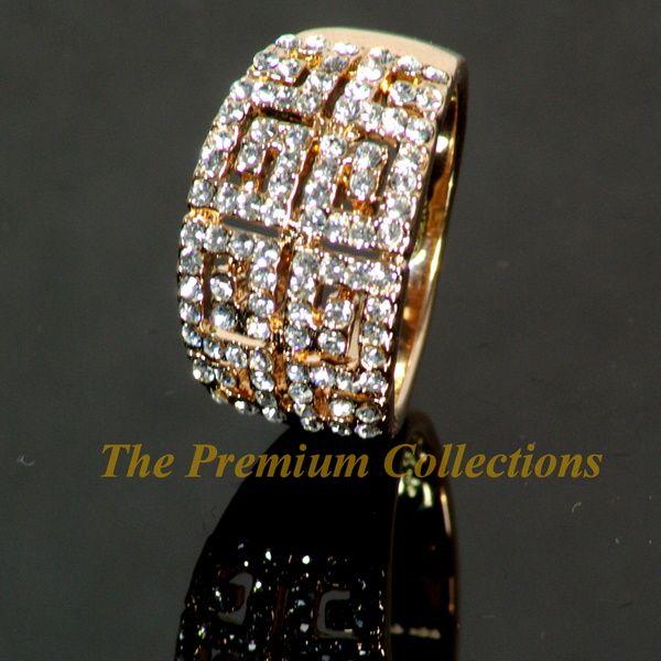 Ring Luxury w Swarovski Crystal 18K Rose Gold Plated