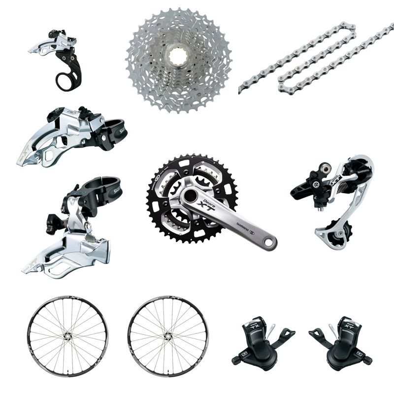 SHIMANO DEORE XT 7 Parts Groupset Mountain Bicycle Bike
