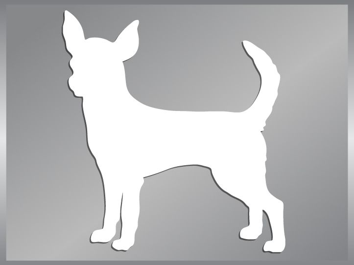 CHIHUAHUA Silhouette cut vinyl decal dog car sticker #1