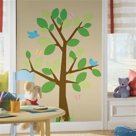 Dotted Tree Nursery/Kids Room Wall Art Sticker Decals