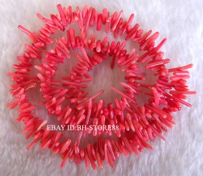 very beautiful high quality real coral dyed color material colore